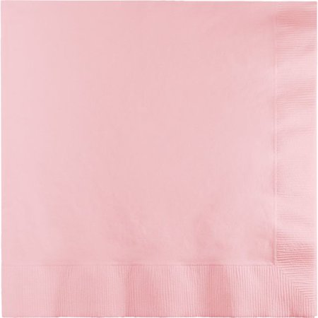 Touch of Color Dinner Napkins, 3-Ply, 1/4 Fold, Classic Pink, 25 Ct - Napkin Fold