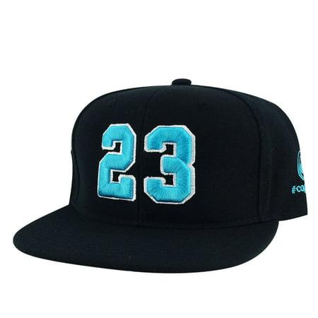 Player Jersey Number #23 Snapback Hat Cap x Air Jordan Grape - Black Aqua White ()