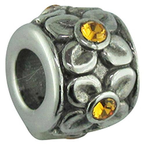 Connections from Hallmark Stainless Steel November Birthstone Flower Charm