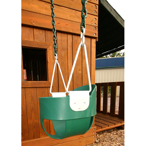 Gorilla Playsets Full Bucket Toddler Swing, Green