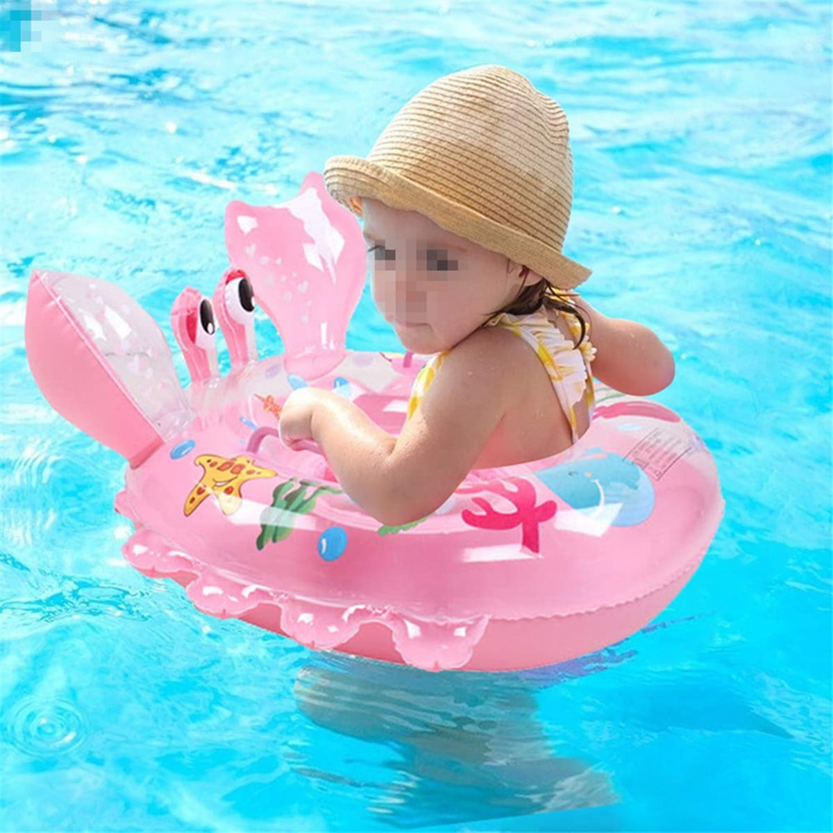 Baby Swimming Ring Floats With Safety Seat Double Handle
