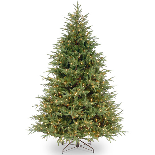 National Tree Pre-Lit 7-1/2' Feel-Real Frasier Grande Hinged Artificial Christmas Tree with 1000 Clear Lights