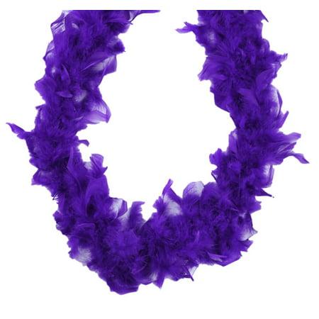 Chandelle Feather Boa Purple 70 gm 72 in 6 Ft