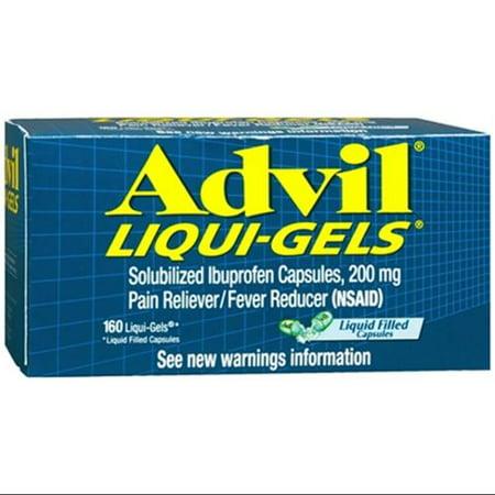 Advil Liqui-Gels 160 Liqui-Gels (Paquet de 6)