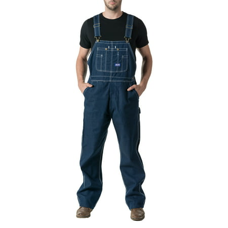 Men's 100% Cotton Rigid Denim Bib - Denim Bib Overall