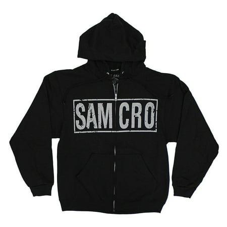 Sons of Anarchy Samcro Boxed Reaper Black Adult Hoodie Sweatshirt