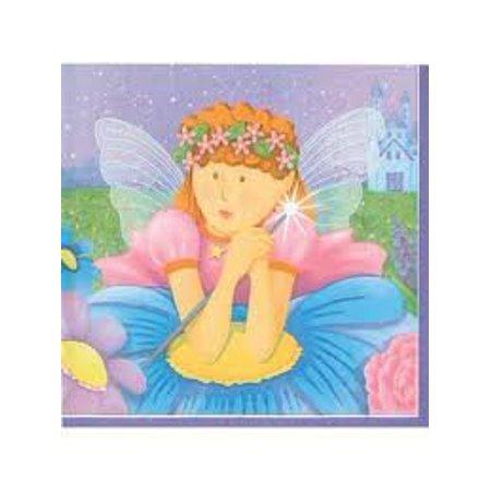 Fairy Princess Birthday Party Napkins - Fairy Princess Beverage Napkins - 16 Count - Fairy Princess Party
