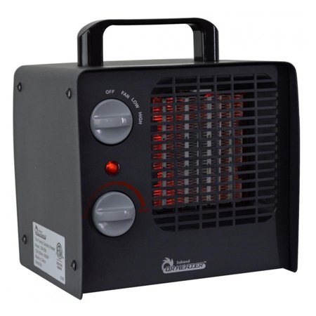 Dr. Infrared Heater DR-838 Family Red Ceramic Space Heater with Adjustable Thermostat