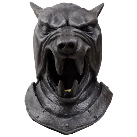 Game of Thrones Adult The Hound Helmet Halloween Costume - Top Gun Halloween Costume With Helmet