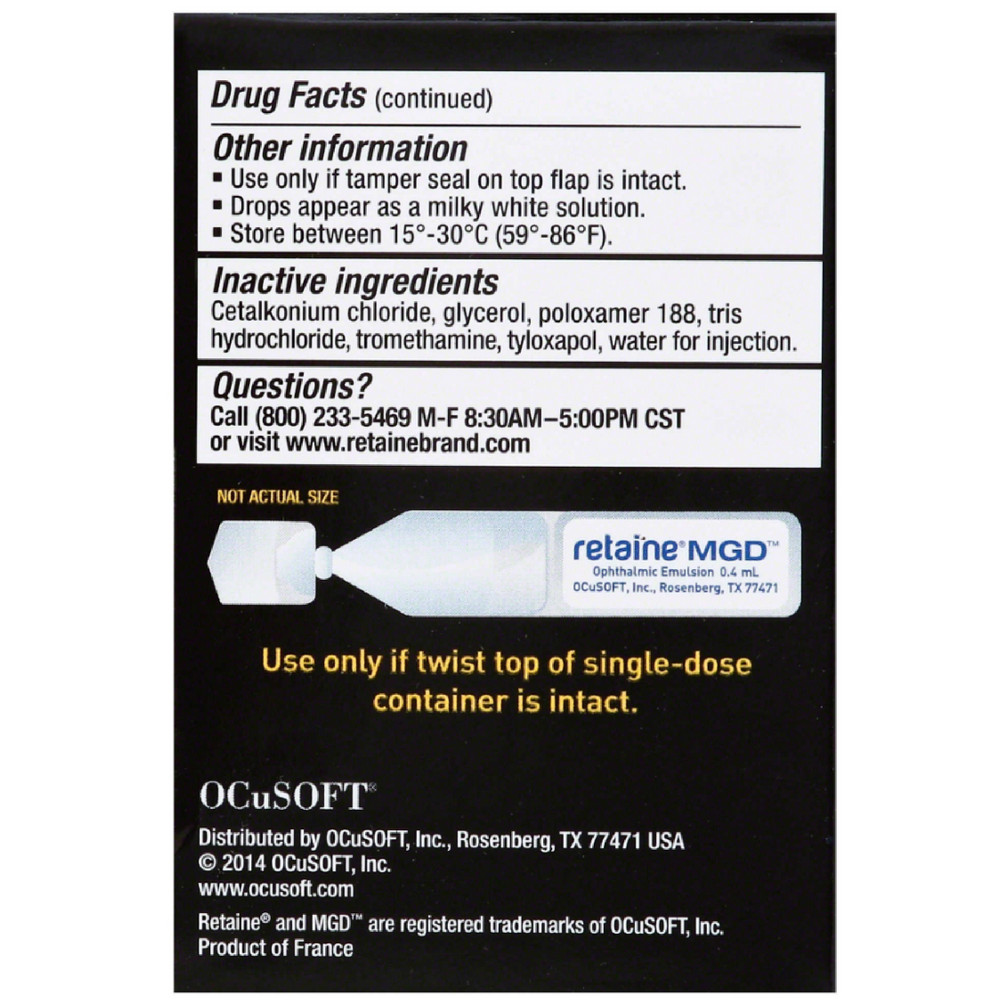 Ocusoft Ocusoft Retaine Eye Drops 30 Ea Walmart