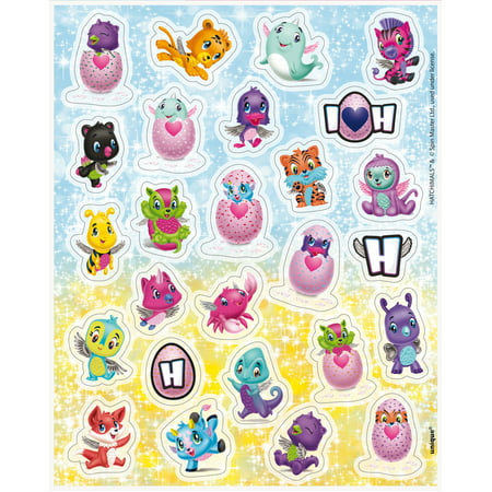 Hatchimals Sticker Sheets, 4ct - Blank Sticker Sheets