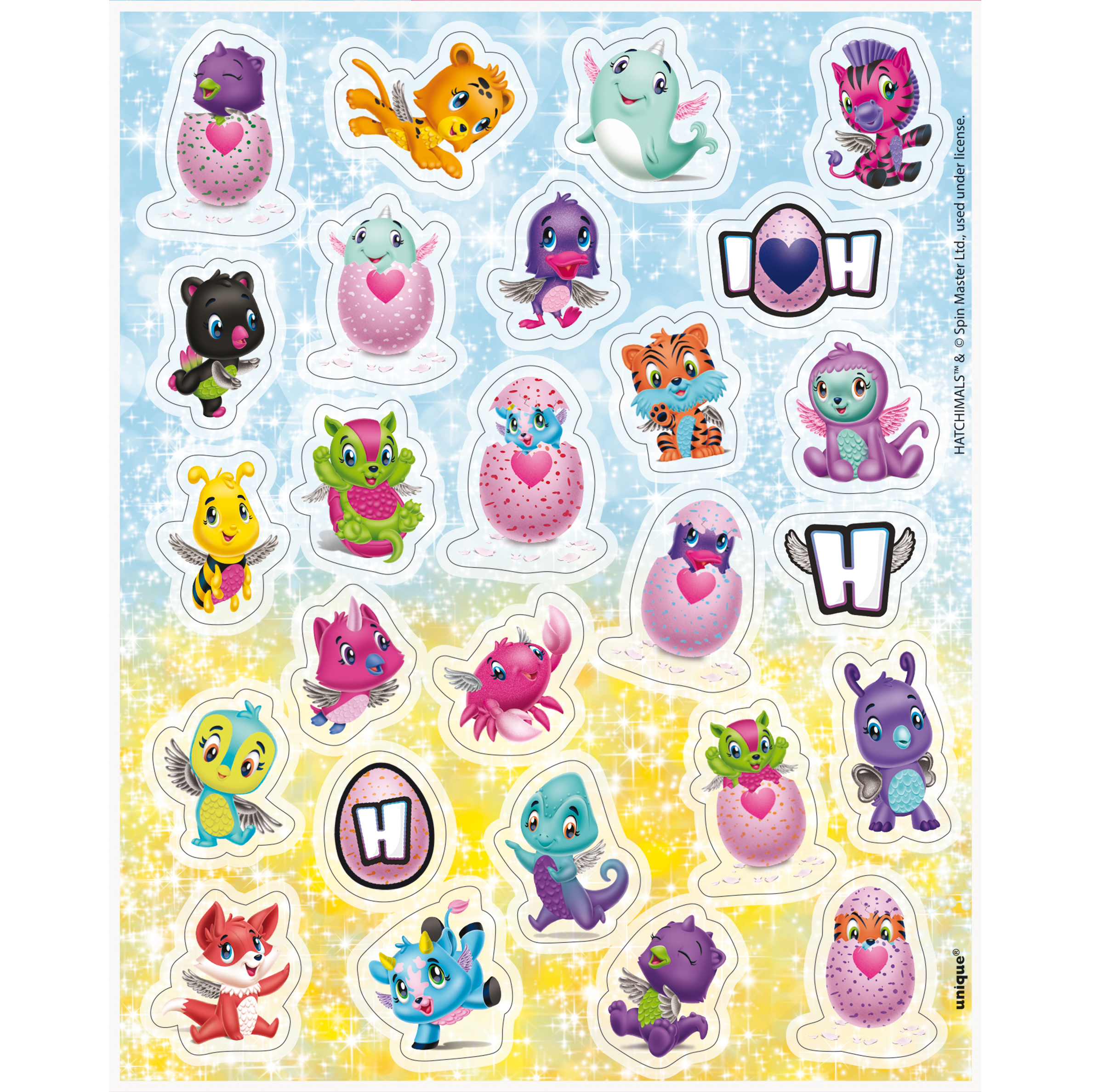 Hatchimals Sticker Sheets, 4ct