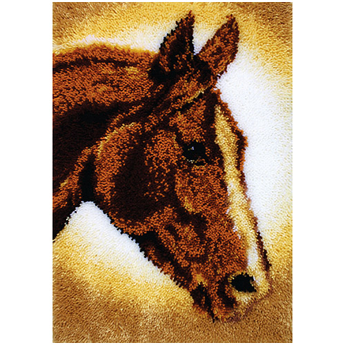 Caron Classics Latch Hooked Rug Kit Horse 20 Quot X 30