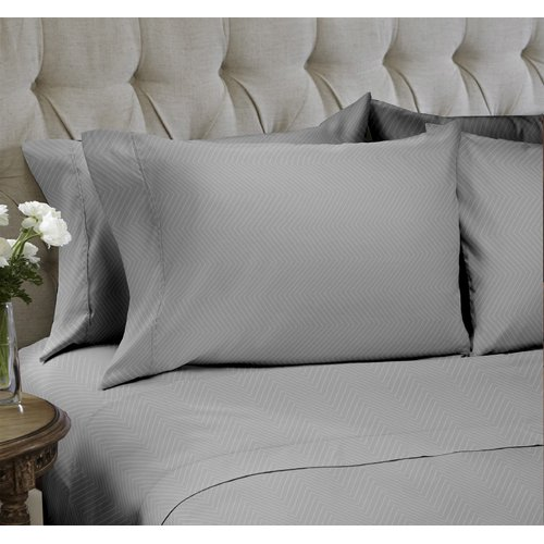 Easy Living Home Chevron Embossed 4 Piece Sheet Set