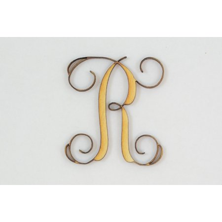 1 Pc, 4 Inch X 1/4 Inch Thick Wood Letters R In The Vine Font Great For Craft Project & Different (Mother's Day Projects)