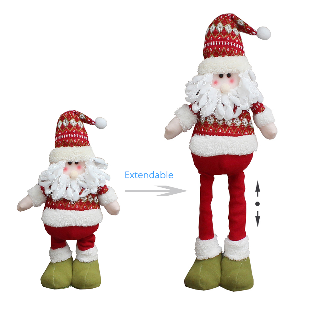 45cm Free Standing Christmas Snowman Decoration with Extendable Legs