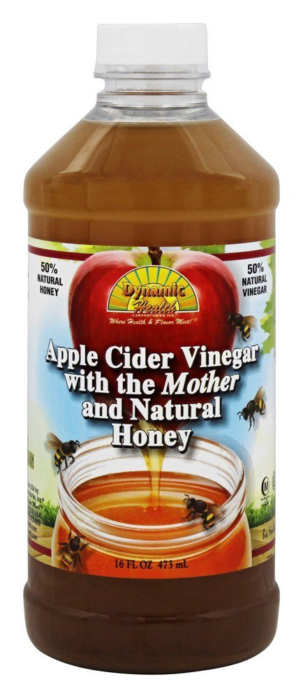 Dynamic Health Organic Apple Cider Vinegar with the Mother and Natural Honey Plastic 16... by Dynamic Health