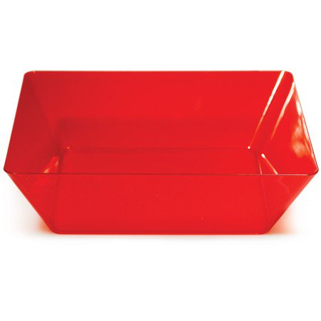 Pack of 6 Translucent Red Plastic 11