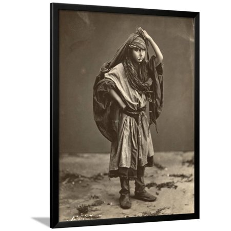 Portrait of Young Middle Eastern Girl Framed Print Wall -