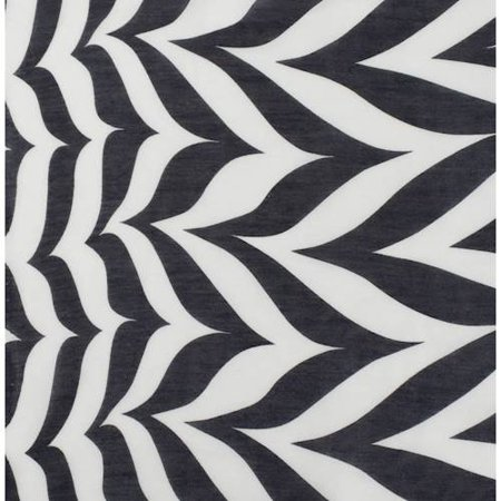 Black/White Marbled Stripe Print Chiffon, Fabric By the -