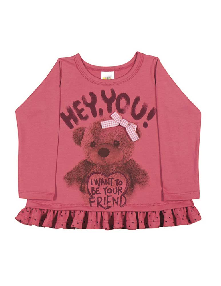 970aa1ec9 Baby Girl T-Shirt Long Sleeve Graphic Tee Newborn Infant Pulla Bulla ...