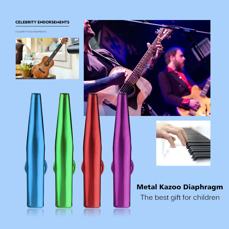 Creative Metal Kazoo 4 Colors Flute Diaphragm Harmonica Gift For Kids Lover Christmas Practical Perfect Gift