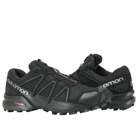Salomon SPEEDCROSS 4 - Trail running shoes - black/black metallic 3d65HB9D8b