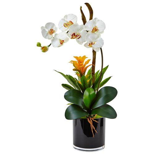 Kess InHouse Mercer41 Silk Orchid and Bromeliad Floral Ar...