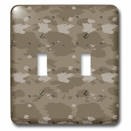 3dRose Desert Camouflage- Military- United States - Double Toggle Switch (lsp_36139_2) Switch Desert Camo