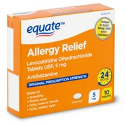 Equate Allergy Relief Tablets, 5 mg, 10 count