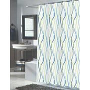 Modern Art Squiggly Eel Anguila Extra Long Fabric Shower Curtain Size 70 X 84