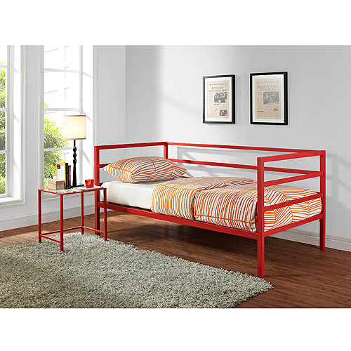 Parsons Daybed and Nightstand Value Bundle, Red