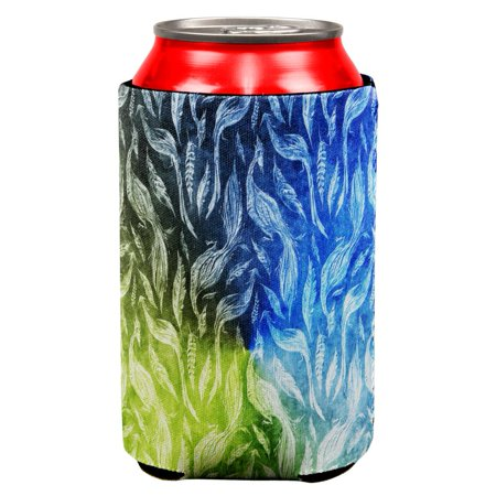 Peacocks And Feathers All Over Can Cooler