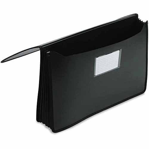 Smead Premium 5 1/4 Inch Accordion Expansion Wallets, Poly, Legal, Black