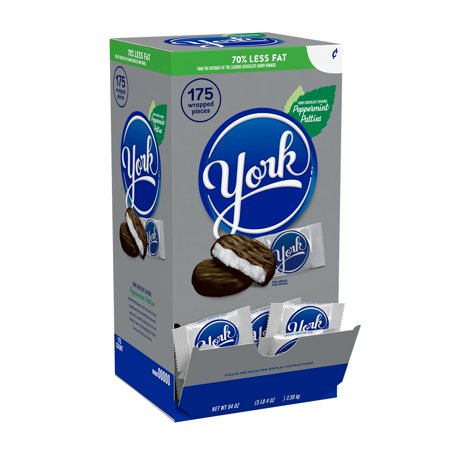 YORK, Dark Chocolate Peppermint Patties Candy, Halloween, 84 oz, Bulk Box (175 Pieces)