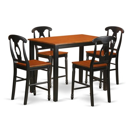 East West Furniture Yarmouth 5 Piece Keyhole Dining Table Set