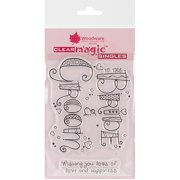 """Woodware Clear Stamps, 3.5"""" x 5.5"""" Sheet"""