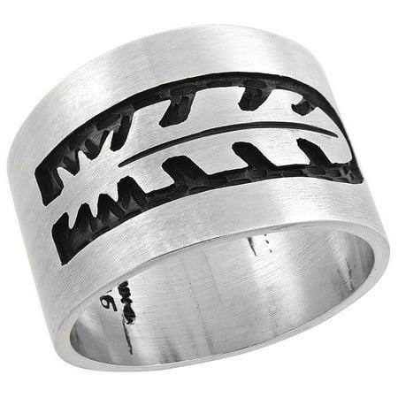 Sterling Silver Native American Design - Sterling Silver Native American Design Feather Ring, sizes 8-13