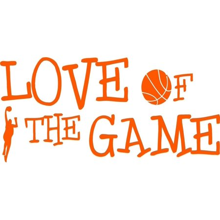 - Custom Wall Decal : Basketball Love Of The Game Hoops Team Wall Sticker : 6 X16
