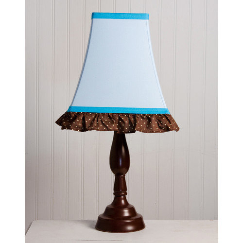 Pam Grace Creations Pam's Blue Petals 8'' H Table Lamp with Empire Shade