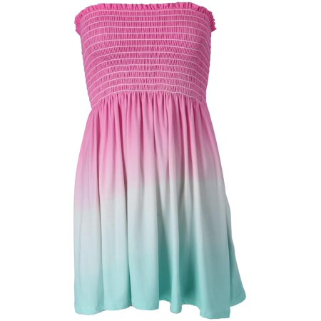 Junior's Dip Dye Smock Gown Cover Up