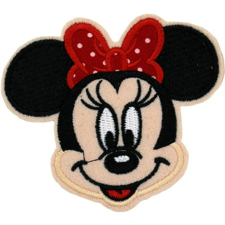 Sea Appliques (Red Minnie Mouse 8.5 cm x 7.5 cm Logo Sew Ironed On Badge Embroidery Applique)
