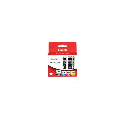 """Canon CLI-226 4 Colors and Photo Paper Pack - For Ink Tanks,  Black, Cyan, Magenta, yellow, 50 4"""" x 6"""" PP-201 Photo Pape"""