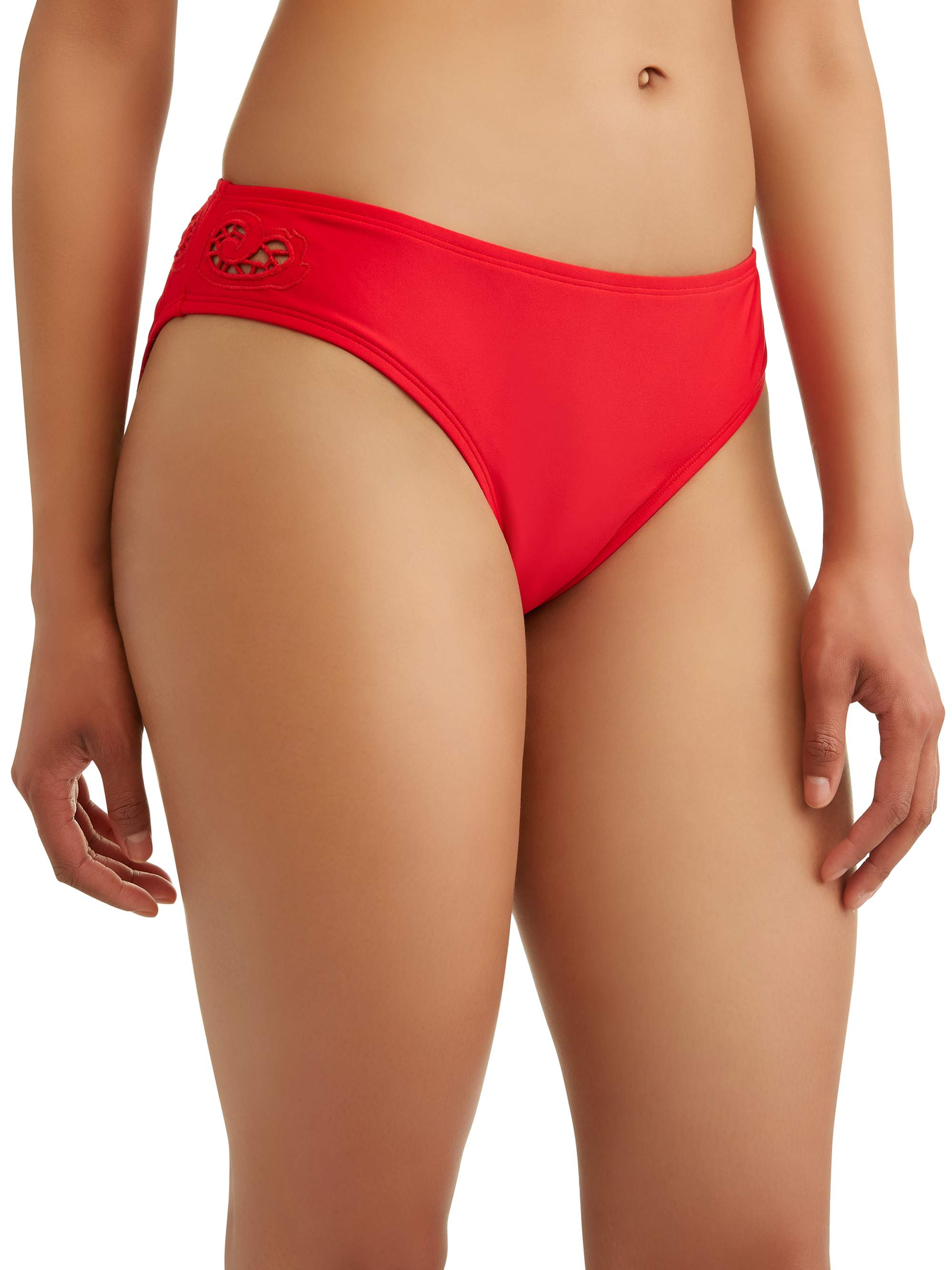 Pour Moi Hot Spots Belted High Waisted Control Brief Ditsy 3909