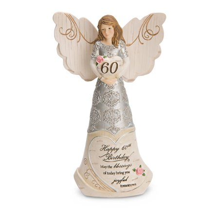 Pavilion Gift Company Elements 82415 60Th Birthday Angel Holding Heart