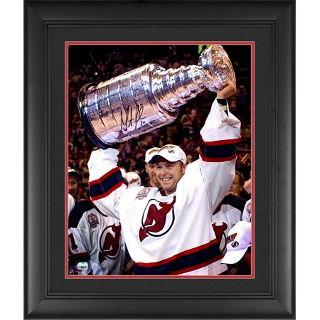 "Martin Brodeur New Jersey Devils Framed Autographed 16"" x 20"" Raising Cup Photograph Fanatics Authentic Certified by"