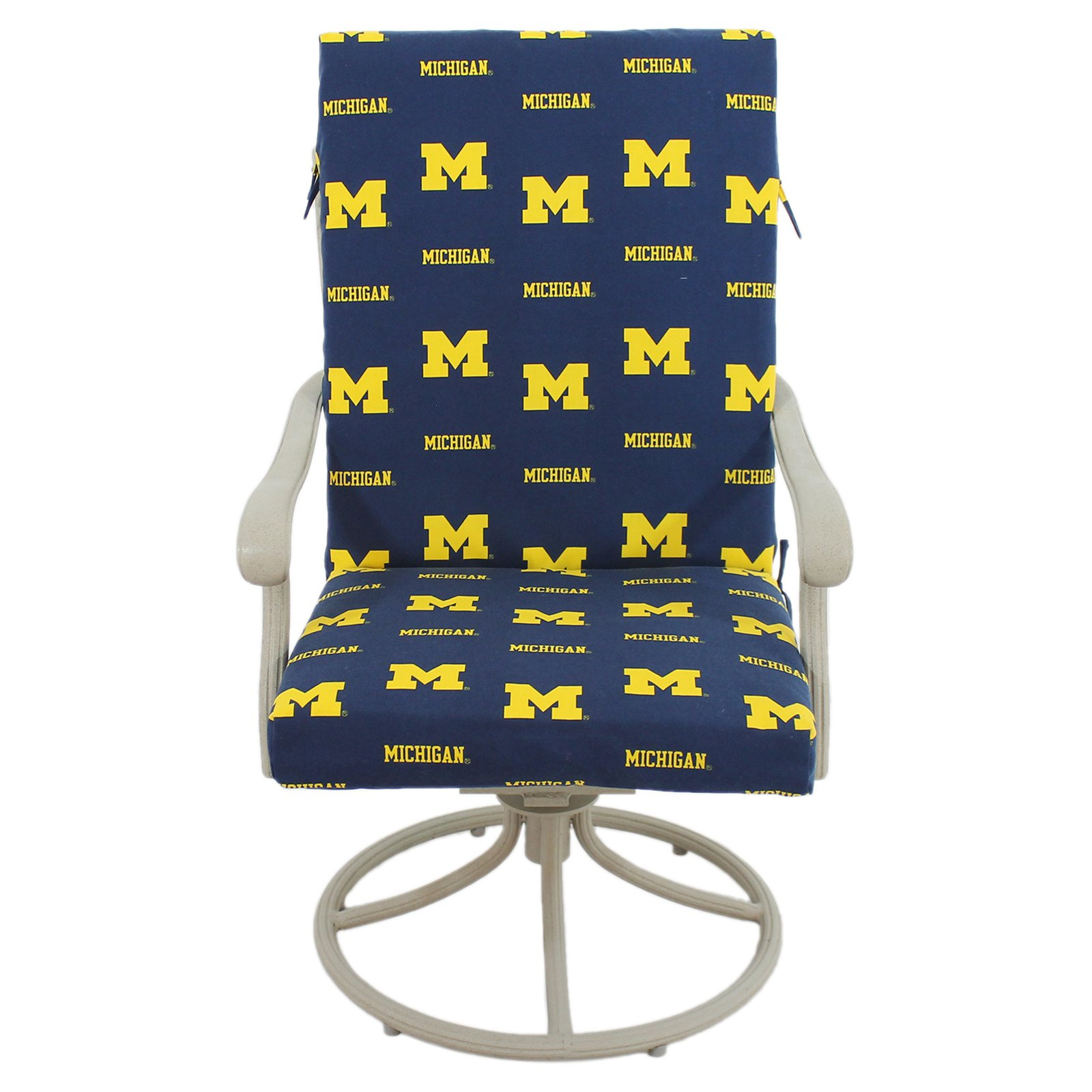 College Covers Fan Shop Michigan Wolverines 2pc Chair Cushion - 20 x 46 in