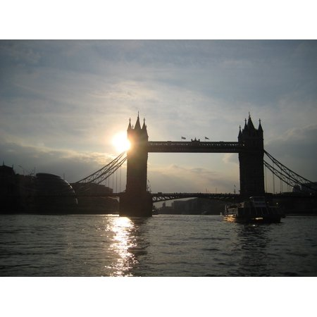 LAMINATED POSTER River Thames Tower Bridge London Sunset Evening Poster Print 24 x 36 - Thames Valley Police Halloween Poster