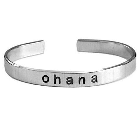 Ohana Hand Stamped Bracelet Aluminum Skinny Cuff Bangle Means Family Hawaiian...](Hawaiian Bracelet)