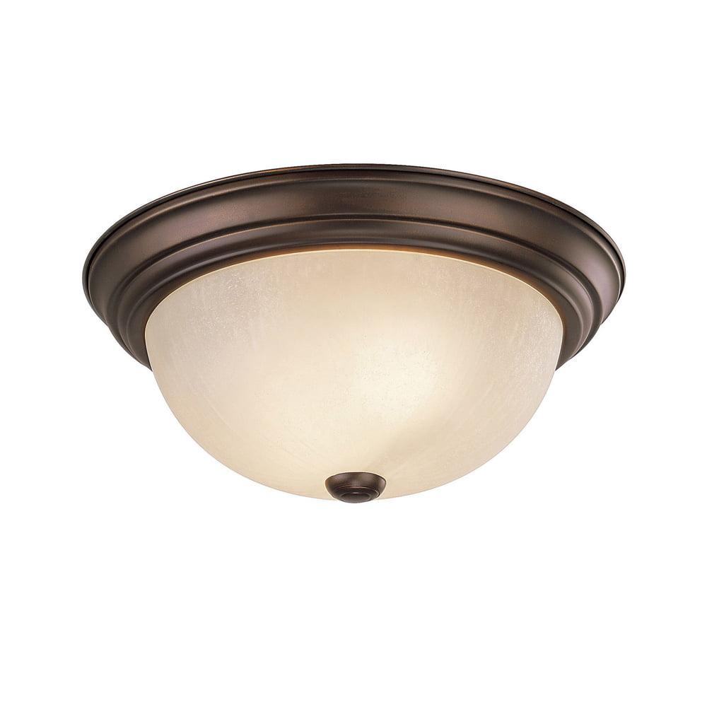 Capital Lighting Chapman Burnished Bronze 2 Light Ceiling Fixture
